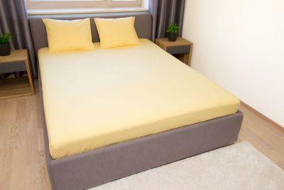 Puuvilla aluslakana Keltainen 150x220 cm