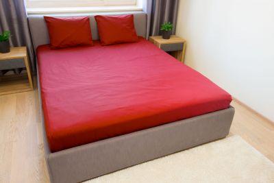 Puuvilla aluslakana Punainen 150x220 cm